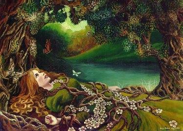 Awakening Pagan Spring Forest